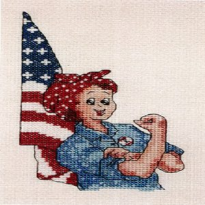 R is for Rosie Counted Cross Stitch Kit